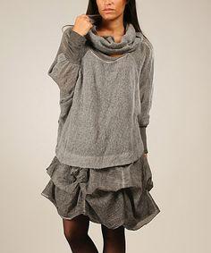 Love this Gray Emma Wool-Mohair Blend Dress on #zulily! #zulilyfinds