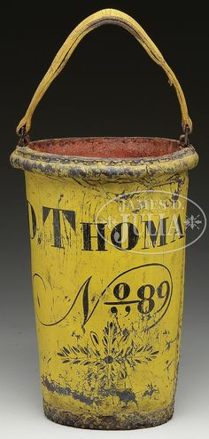 LEATHER FIRE BUCKET.Early 19th Century, New England...