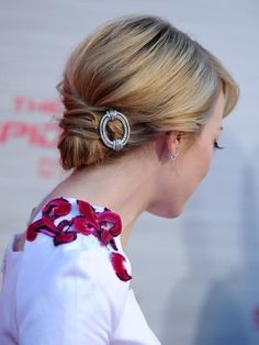 updo with barrette