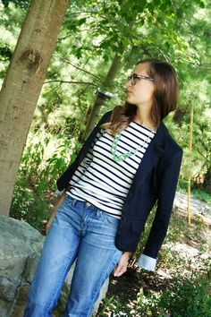 jillgg's good life (for less) | a style blog: my outfit: blazers and stripes for the win!