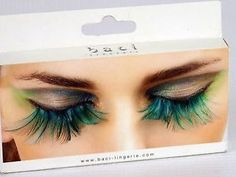 Paradise Dreams Turquoise Feather Eyelashes Baci-Lingerie BACI-615