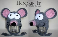 Toopy  Toopy inspired hat with ear flaps by HookinItbyBellaBeanz, $35.00