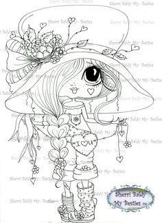 INSTANT DOWNLOAD Digital Digi Stamps Big Eye Big Head Dolls Digi  Img510 By Sherri Baldy by SherriBaldy on Etsy https://www.etsy.com/listing/219184720/instant-download-digital-digi-stamps-big