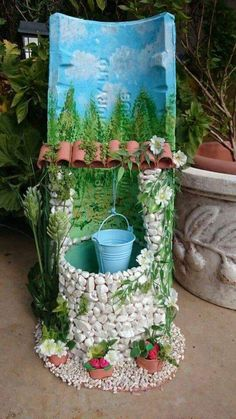 Art and Craft Ideas Stone Crafts, Clay Crafts, Diy And Crafts, Crafts For Kids, Arts And Crafts, Bottle Art, Bottle Crafts, Deco Champetre, Diy Y Manualidades