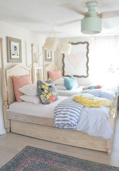 Summer Home Decor- Girls Bedroom- Home Decor Ideas