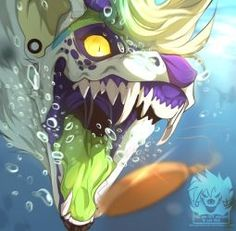 Jewel hunt by IntiZai on DeviantArt Creature Drawings, Animal Drawings, Art Drawings, Wolf Drawings, Mythical Creatures Art, Fantasy Creatures, Pet Anime, Anime Art, Furry Drawing