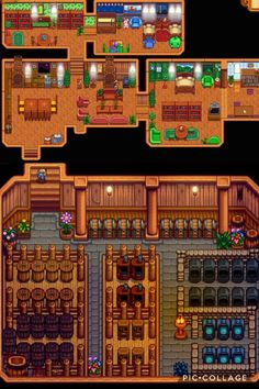 One of the fun parts of Stardew Valley is putting those personal touches on your farm. Stardew Farms, Stardew Valley Farms, Stardew Valley Layout, Stardew Valley Tips, Piskel Art, Fallout New Vegas, Fallout 3, Farm Layout, Basement Layout
