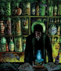 Harry Potter and the Philosopher's Stone, Illustrated Edition – Severus Snape. Illustration: Jim Kay