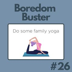 Get relaxed with some family yoga! Family Yoga, Boredom Busters, Comics, Cartoons, Comic, Comics And Cartoons, Comic Books, Comic Book, Graphic Novels