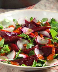 Beet, Carrot, and Watercress Salad: (via Martha Stewart)