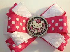 Hello Kitty Hairbow (Pink & White)