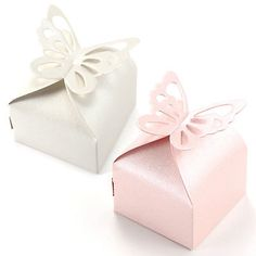 50 x Butterfly Wedding Favour Boxes Candy Gift Boxes