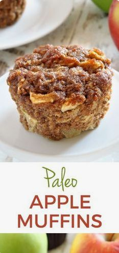 Paleo Apple Muffins - Recipes For Dinner Cranberry Muffins, Muffins Blueberry, Apple Cinnamon Muffins, Apple Banana Muffins, Paleo Dessert, Paleo Sweets, Healthy Desserts, Dessert Recipes, Brunch Recipes