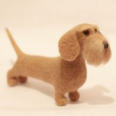 Miniature Red Wirehaired Dachshund toy, Dog, Needle Felted Dog doll, figurine by Lesya Ivanova (www.facebook.com/lesya.tg)