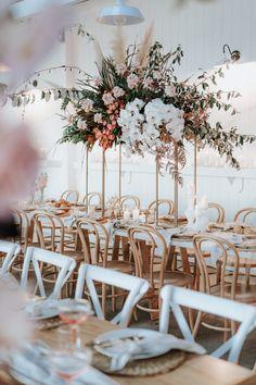 Seacliff House Gerringong Wedding - Gemaya + Tim - The Evoke Company Wedding Reception Flowers, Wedding Reception Decorations, Wedding Themes, Wedding Centerpieces, Wedding Table, Floral Wedding, Wedding Colors, Boho Wedding, Wedding Ideas