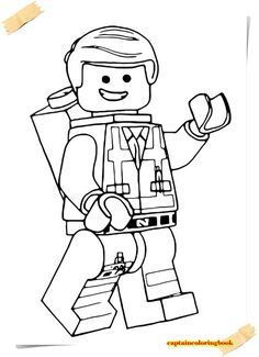 Lego movie bad cop coloring pages Emmet Lego, Lego Ninjago, Lego Movie Coloring Pages, Coloring For Kids, Coloring Pages For Kids, Coloring Books, Coloring Sheets, Lego Film, Lego Spiderman