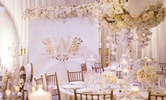 All White & Gold Luxury Wedding Inspiration All White Wedding, Color Themes, Luxury Wedding, Wedding Designs, Wedding Colors, Wedding Inspiration, Table Decorations, White Gold, Home Decor