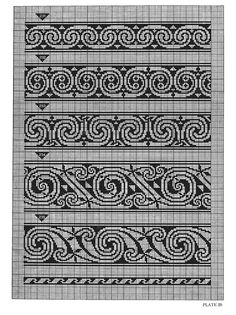 Celtic Charted Designs by Co Spinhoven of Celtic Cross Stitch, Cross Stitch Borders, Cross Stitching, Cross Stitch Patterns, Fair Isle Chart, Fair Isle Pattern, Celtic Patterns, Celtic Designs, Knitting Charts
