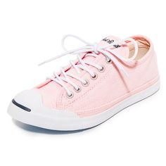 Converse Jack Purcell LP OX Sneakers ($76) ❤ liked on Polyvore featuring shoes, sneakers, lace up sneakers, laced shoes, embroidered shoes, converse sneakers and laced up shoes
