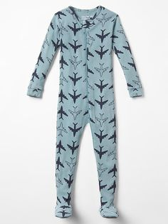 Plane sleep footed one-piece Product Image