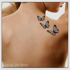 74cf0a7d5 Temporary Tattoo 3D Butterflies Fake Tattoo Flying Butterfly Thin Durable  Realistic