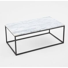 West Elm Box Frame Coffee Table, Marble Top - Coffee Tables - Accent... ($599) ❤ liked on Polyvore featuring home, furniture, tables, accent tables, west elm coffee table, marble top accent tables, marble top furniture, marble top coffee table and marble top table