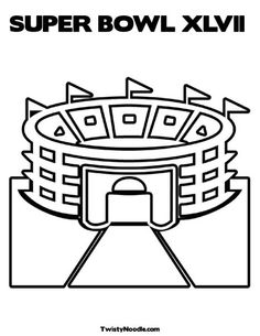 super bowl xlvii coloring page from twistynoodlecom