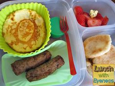 Breakfast for lunch, packed in Lunch Recipes, Baby Food Recipes, Breakfast Recipes, Healthy Recipes, Kids Packed Lunch, Lunch To Go, Healthy Lunches For Kids, Kids Meals, Easy Lunch Boxes