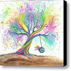 Still MOre Rainbow Tree Dreams Canvas Print / Canvas Art - Artist Nick Gustafson ... love it
