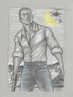 Jack Reacher illustration by Anthony Gonzalez Jack Reacher, Reading Library, Guy Drawing, Tom Cruise, Book Characters, Art Sketchbook, Bibliophile, James Bond, Books To Read