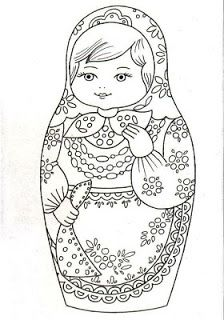 Russian Babushka Doll Embroidery