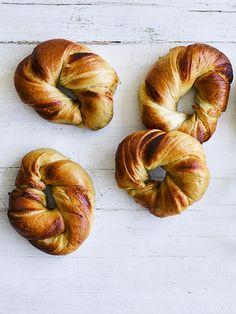 Marmite marbled bagels