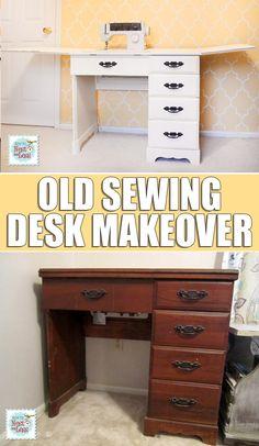 sewing desk makeover                                                                                                                                                                                 More