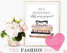 Printable art, bedroom art, dorm decor, girls room print, book lover gift, book lover, gift for daughter, teen room decor, bedroom decor