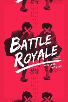 Typography & Graphic Design / Battle Royale Re Covered Film Poster Contest Winner: Keorattana Luangrathajasombat Creative Poster Design, Creative Posters, Cool Posters, Poster Designs, Design Art, Interior Design, Movie Posters, Design Typography, Lettering