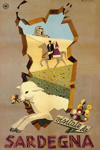 Sardegna-Sardinia-Island-Sheep-Horse-Italy-Vintage