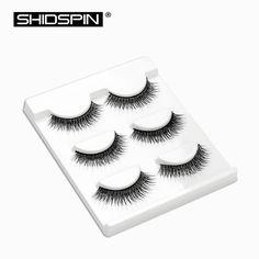 3 pairs Women's Cross Long Eyelash  Extension Black Fake False Eyelashes Beauty Makeup Wispy Eye Lashes BL14