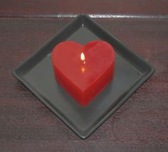Customized Valentines Day Medium Heart Candle by AllThatTeases, $15.00