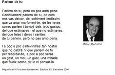 Miquel Martí i Pol. Llibre d'absències