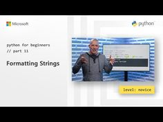 Python offers the ability to add placeholders for easier dynamic string creation. Academia, Science And Technology, Python, Microsoft, Reading, Youtube, Word Reading, The Reader, Youtube Movies