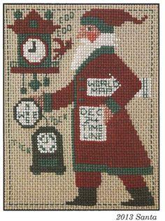 2013 Schooler Santa - Cross Stitch Pattern
