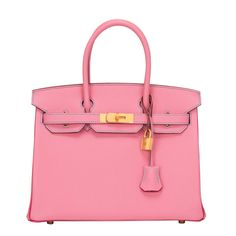 Hermes Tri-color SO Horsehoe 5P Chevre Birkin 30cm GHW  This Special Order Birkin features Blue Aztec stitching, front toggle closure, clochette with lock and two keys, and double rolled handles. The interior is lined in Rose Shocking chevre with one zip pocket with an Hermes engraved zipper pull and an open pocket on the opposite side.