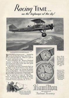 1929 Hamilton Watch ad ‹ Strickland Vintage Watches