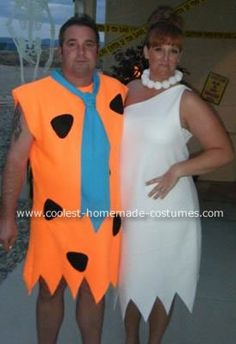 Coolest Fred and Wilma Flinstone Halloween Costume 17