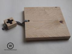 #dienblad van #steigerhout met koord. Sfeervol met kaarsjes of voor een koffie voor twee.