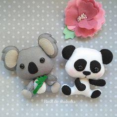 Sewing tutorials toys how to make ideas Cool Baby, Baby Ornaments, How To Make Ornaments, Felt Diy, Felt Crafts, Koala Craft, Panda Nursery, Felting Tutorials, Felt Decorations