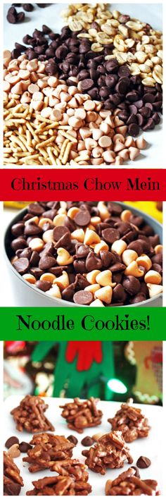 Christmas Chow Mein Noodle Cookies ~ Only four ingredients to make this delicious sweet and salty cookie!