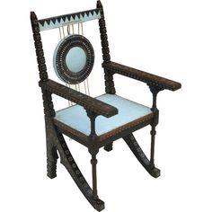 Carlo Bugatti Throne Armchair. Italy. 1900's
