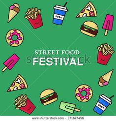 Find Street Food Festival Poster Junk Food stock images in HD and millions of other royalty-free stock photos, illustrations and vectors in the Shutterstock collection. Food Icons, Festival Posters, Food Festival, Junk Food, Street Food, Royalty Free Stock Photos, Graphics, Design, Graphic Design