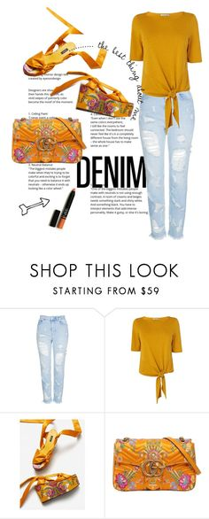 Floral and Denim. by emi the queen ❤ liked on Polyvore.